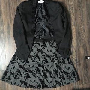 Beautiful Black Skirt w/ Velvet Flowers